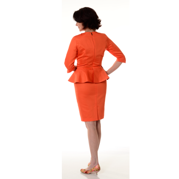 Dress-for-work-Lexis-Orange-Back