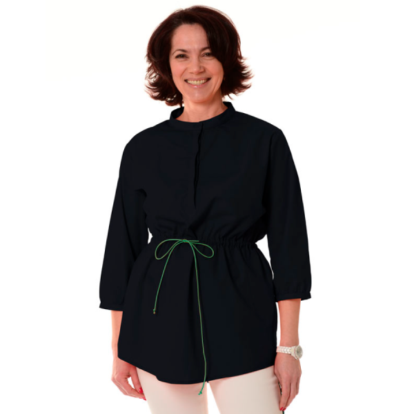 Embroidered-Medical-Tunic-Andromeda-Black