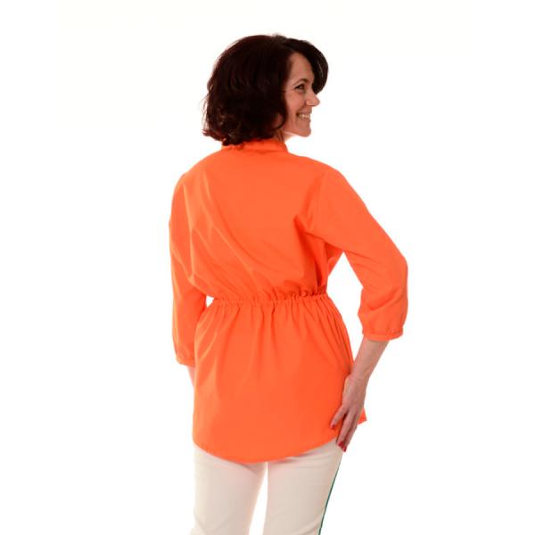 Embroidered-Medical-Tunic-Andromeda-Orange-Back