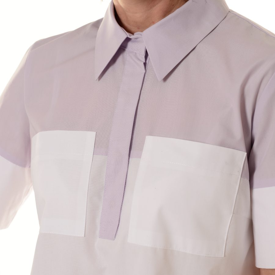 Ladies-Shirt-for-Work-Fornax-White-Pockets