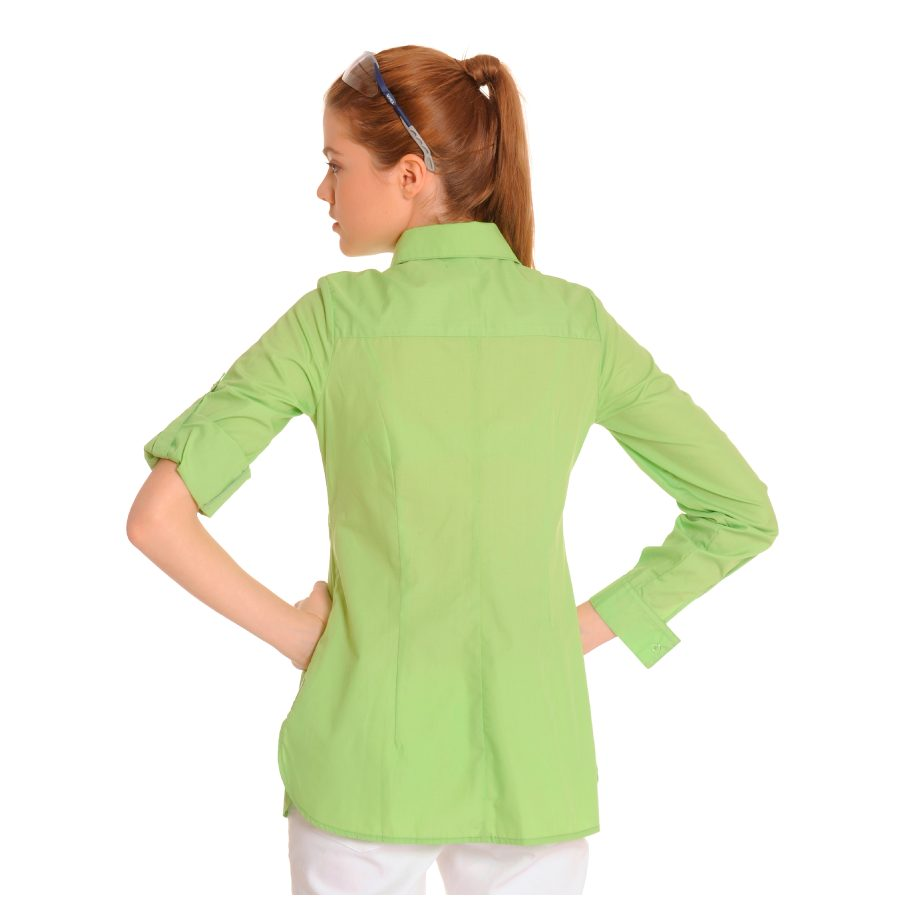 Ladies-Shirt-for-Work-Lacerta-Green-Back-1