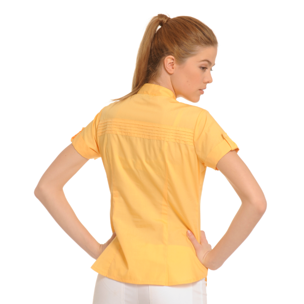 Ladies-Shirt-for-Work-Tucana-Yellow-Back