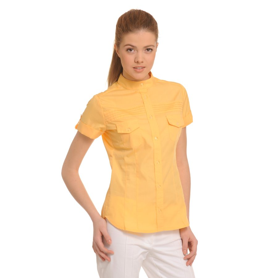 Ladies-Shirt-for-Work-Tucana-Yellow