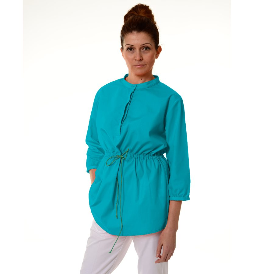 Ladies-Tunics-for-Work-Andromeda-Turquoise