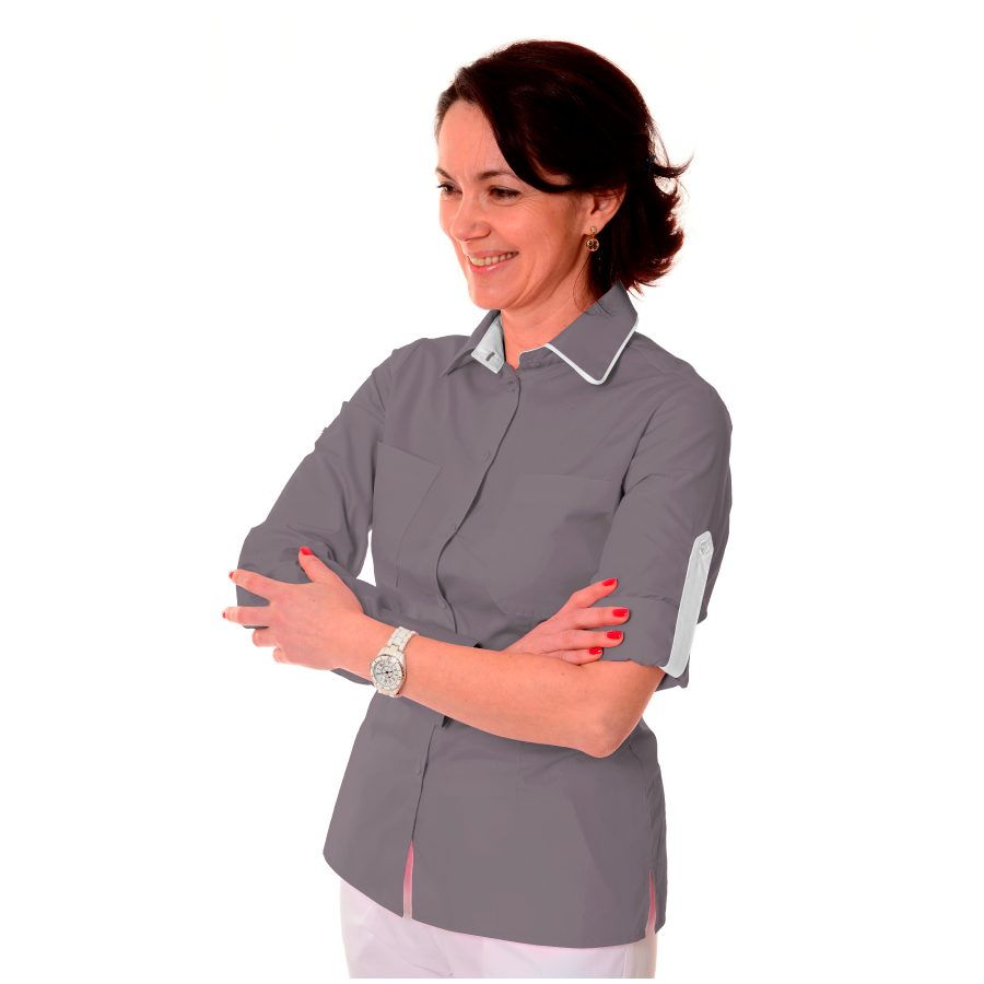 Ladies-Work-Shirt-Onda-Grey-