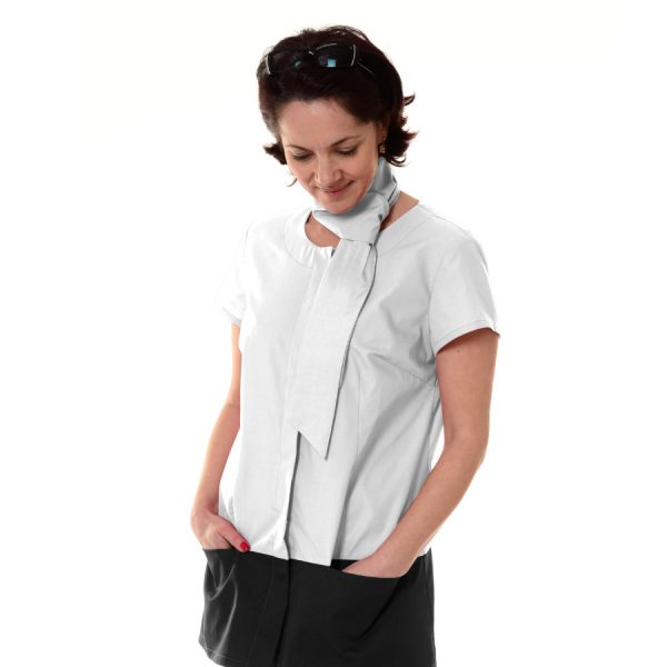 Medical-Tunic-Columba-White-Black