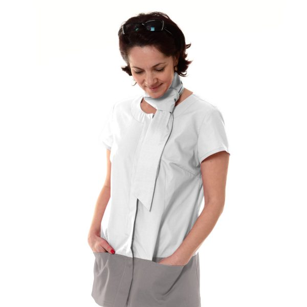 Medical-Tunic-Columba-White-Grey