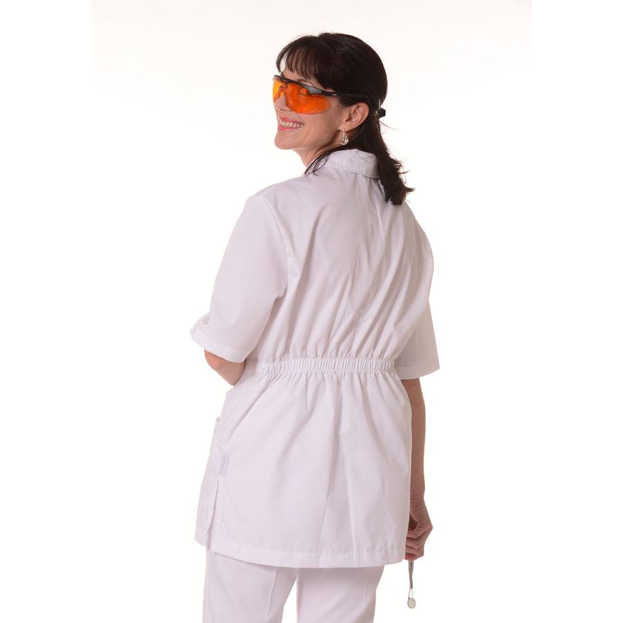 Medical-Tunic-Dorado-Women-White-Back