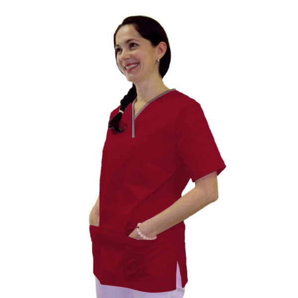 Medical-Tunic-Lupus-Red