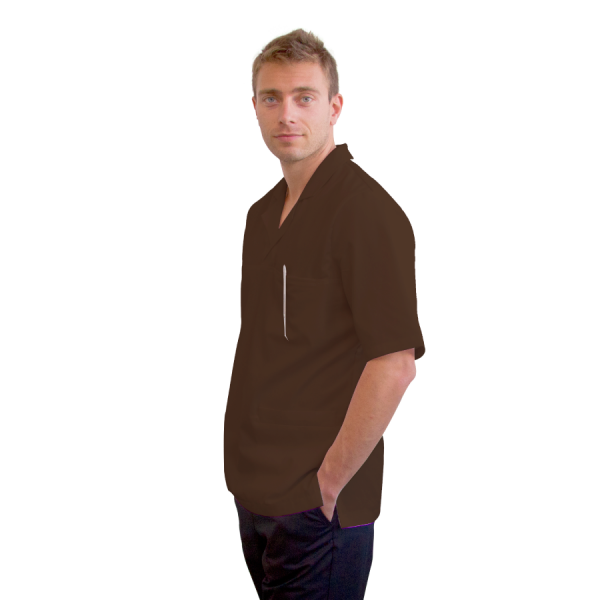 Work-Tunics-for-men-Dorado-Brown