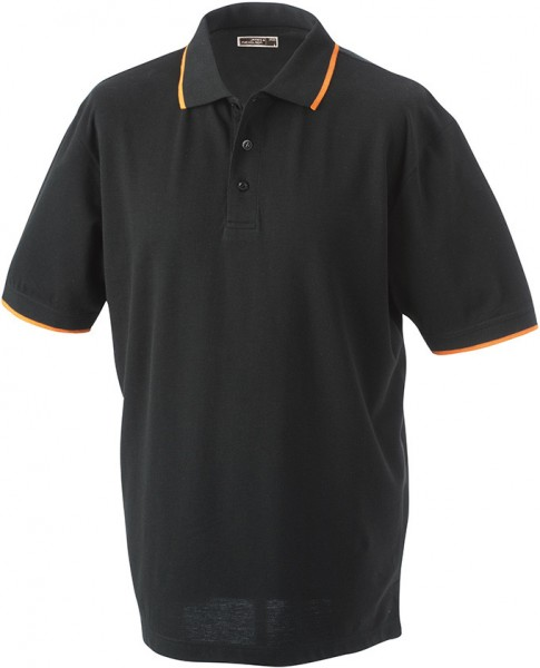 Mens-Work-Polo-Shirt-JN034-black-orange