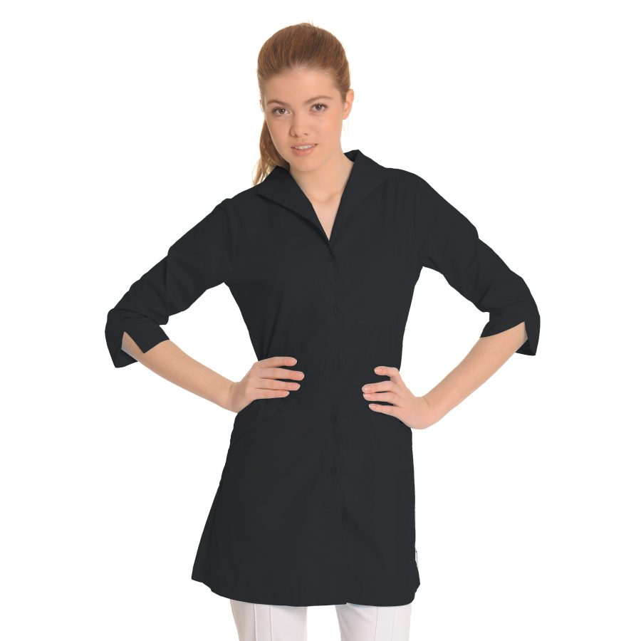Lab-Coat-for-Women-Hydra-Black
