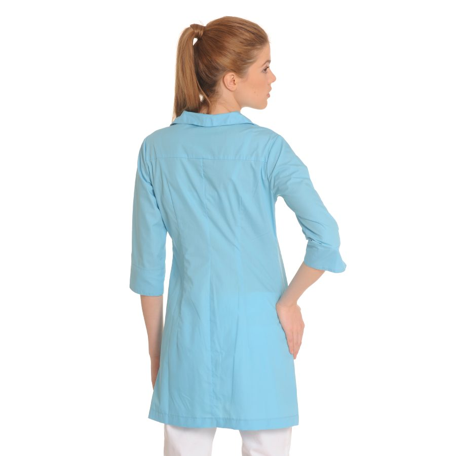 Lab-Coat-for-Women-Hydra-Blue-Back