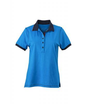 Ladies-Polo-Shirt-Azur-Navy-T-Shirt-JN-979-1