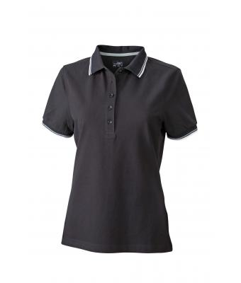 Ladies-Polo-Shirt-Black-White-Grey-T-Shirt-JN-965-1