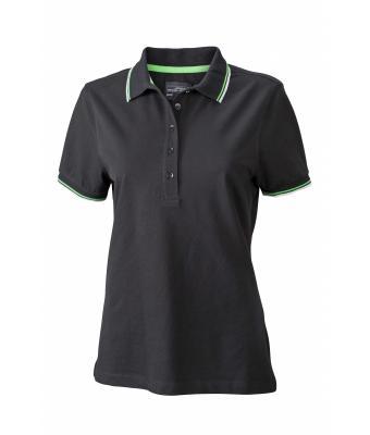 Ladies-Polo-Shirt-Black-White-LimeGreen-T-Shirt-JN-965-1