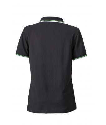 Ladies-Polo-Shirt-Black-White-LimeGreen-T-Shirt-JN-965-2