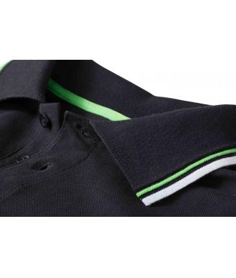 Ladies-Polo-Shirt-Black-White-LimeGreen-T-Shirt-JN-965-3