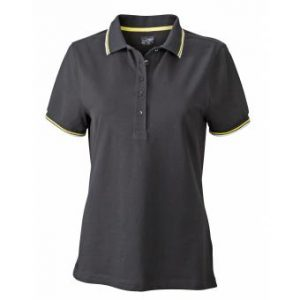 Ladies-Polo-Shirt-Black-White-Yellow-T-Shirt-JN-965-1