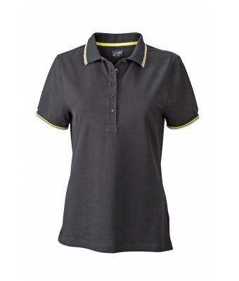 Ladies-Polo-Shirt-Black-White-Yellow-T-Shirt-JN-965-1