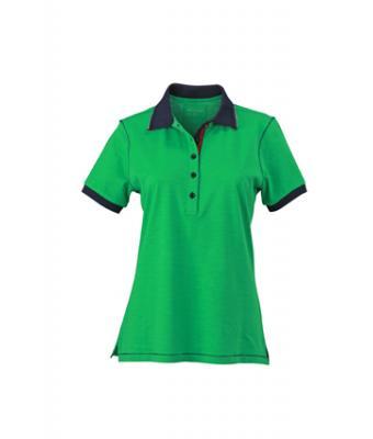Ladies-Polo-Shirt-FernGreen-Navy-T-Shirt-JN-979-1