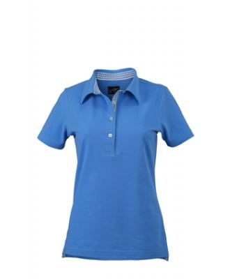 Ladies-Polo-Shirt-Glacier-Blue-White-T-Shirt-JN-969-3