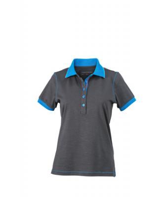 Ladies-Polo-Shirt-Graphite-Azur-T-Shirt-JN-979-1