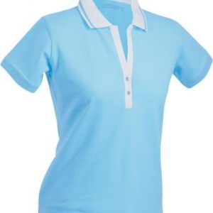 Ladies-Polo-Shirt-Lagoon-White-T-Shirt-JN-158-1