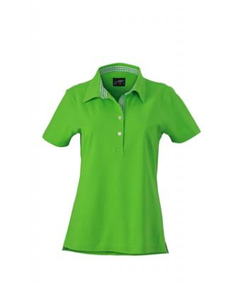 Ladies-Polo-Shirt-LimeGreen-LimeGreen-White-T-Shirt-JN-969-1