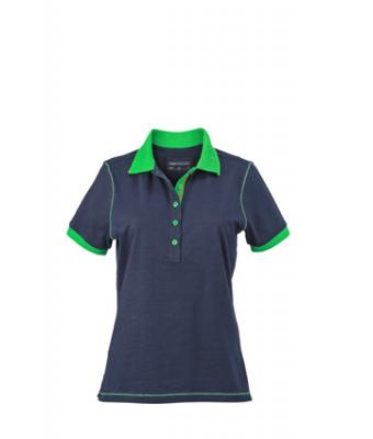 Ladies-Polo-Shirt-Navy-FernGreen-T-Shirt-JN-979-1