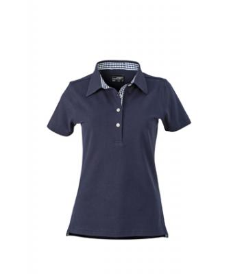 Ladies-Polo-Shirt-Navy-Navy-White-T-Shirt-JN-969-1