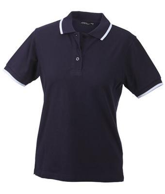 Ladies-Polo-Shirt-Navy-White-T-Shirt-JN-934-1