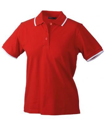 Ladies-Polo-Shirt-Red-White-T-Shirt-JN-934-1