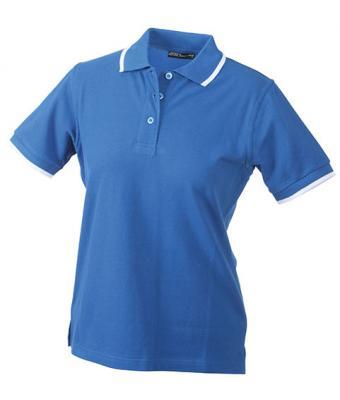 Ladies-Polo-Shirt-Royal-White-T-Shirt-JN-934-1