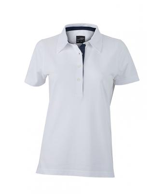 Ladies-Polo-Shirt-White-Denim-White-T-Shirt-JN-969-1