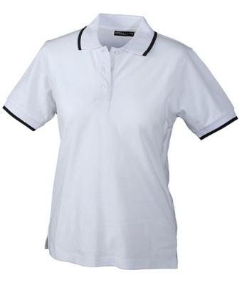 Ladies-Polo-Shirt-White-Navy-T-Shirt-JN-934-1