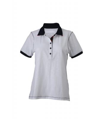 Ladies-Polo-Shirt-White-Navy-T-Shirt-JN-979-1