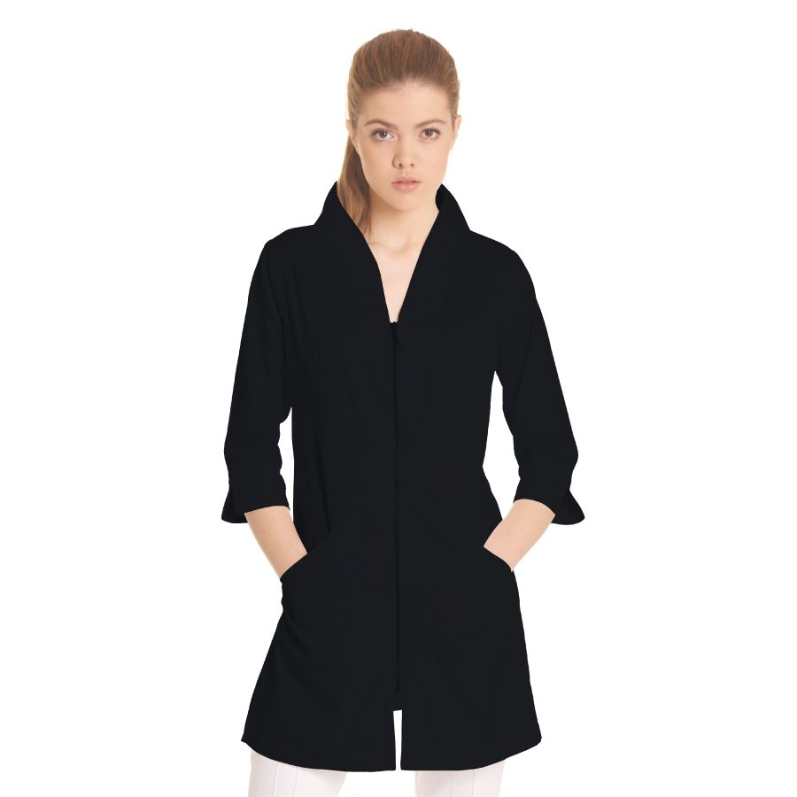 Ladies-white-coat-Norma-Black