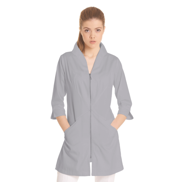 Ladies-white-coat-Norma-Grey