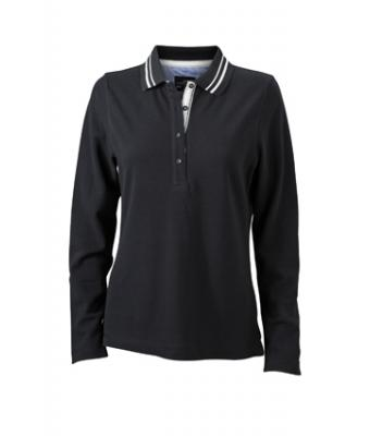 Longsleeve-Polo-Shirt-Black-JN-967-1