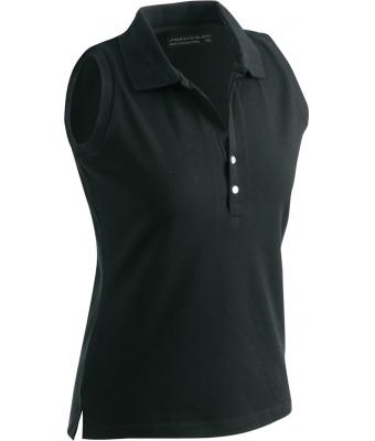 Sleeveless-Polo-Shirt-Black-T-Shirt-JN-159-1