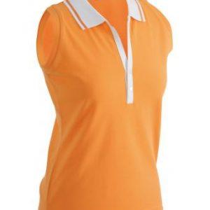 Sleeveless-Polo-Shirt-Orange-T-Shirt-JN-159-1