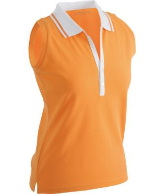 Sleeveless-Polo-Shirt-Orange-T-Shirt-JN-159-1