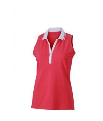 Sleeveless-Polo-Shirt-Pink-T-Shirt-JN-159-1