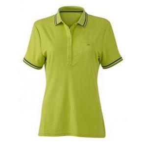 Women-Polo-Shirt-Acid-Yellow-Carbon-T-Shirt-JN-701-1