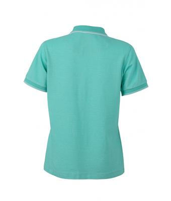 Women-Polo-Shirt-Caribbean-Green-White-T-Shirt-JN-703-2