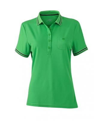 Women-Polo-Shirt-Green-Carbon-T-Shirt-JN-701-1