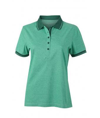 Women-Polo-Shirt-Green-Melange-DarkGreen-T-Shirt-JN-705-1