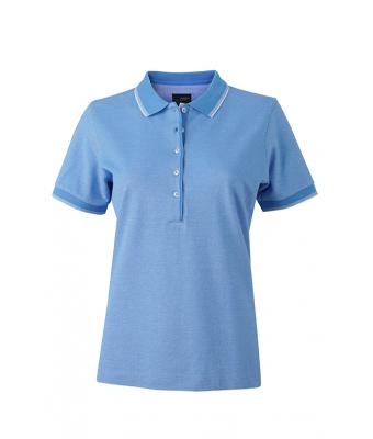 Women-Polo-Shirt-Light-Blue-White-T-Shirt-JN-703-1
