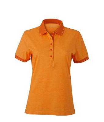 Women-Polo-Shirt-Orange-Melange-DarkOrange-T-Shirt-JN-705-1